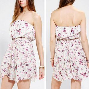 UO Kimchi Blue Strapless Floral Dress